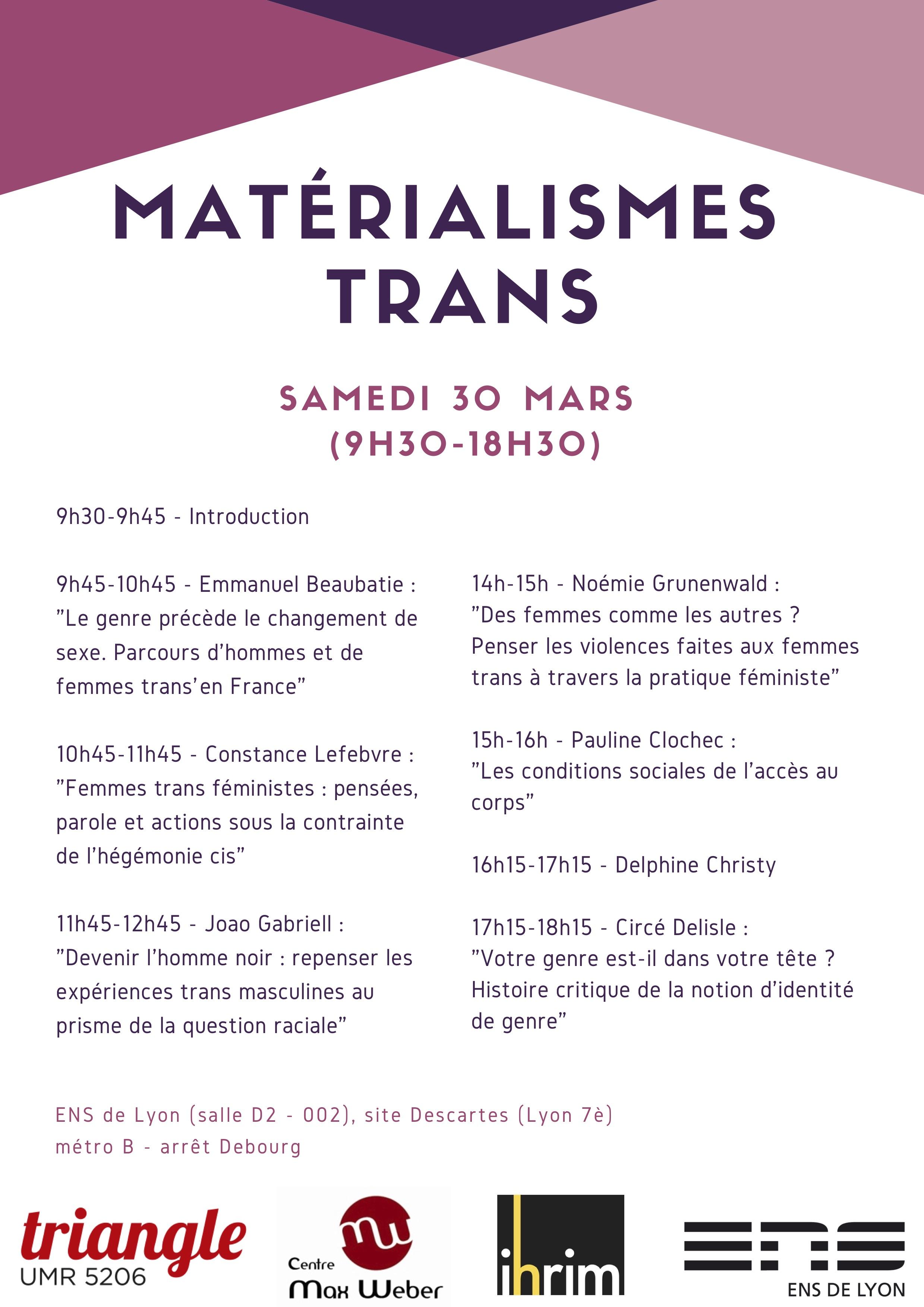 Matérialismes-trans affiche
